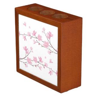 Cherry Blossom - Transparent Background Desk Organizer