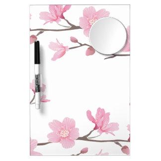 Cherry Blossom - Transparent Background Dry Erase Whiteboard