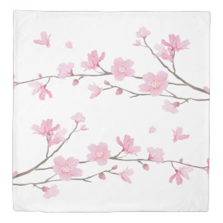 Cherry Blossom - Transparent Background Duvet Cover