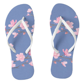 Cherry Blossom - Transparent Background Flip Flops