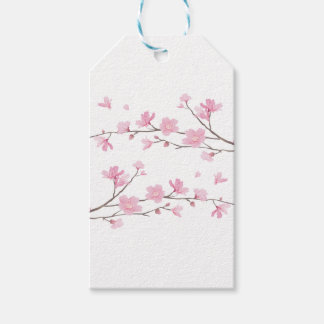 Cherry Blossom - Transparent-Background Gift Tags