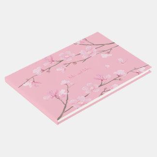 Cherry Blossom - Transparent Background Guest Book
