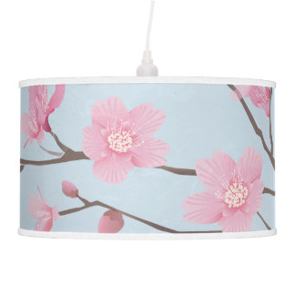 Cherry Blossom - Transparent Background Hanging Pendant Lamp