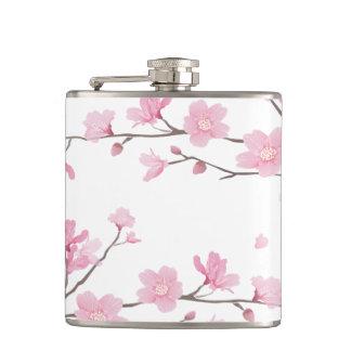 Cherry Blossom - Transparent Background Hip Flask