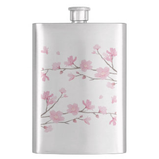 Cherry Blossom - Transparent Background Hip Flask