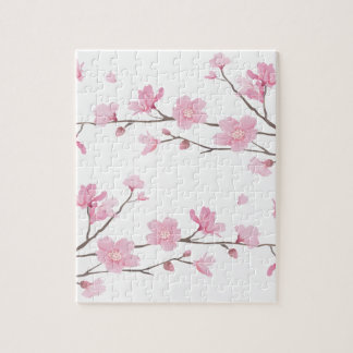 Cherry Blossom - Transparent-Background Jigsaw Puzzle