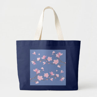 Cherry Blossom - Transparent-Background Large Tote Bag