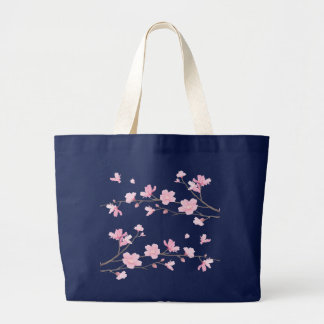 Cherry Blossom - Transparent-Background Large Tote Bag
