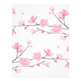 Cherry Blossom - Transparent-Background Letterhead