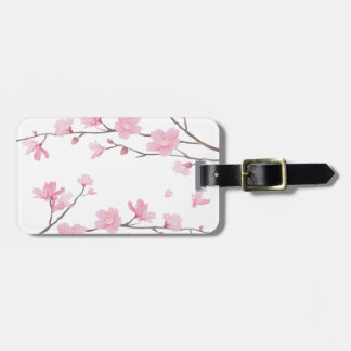 Cherry Blossom - Transparent-Background Luggage Tag