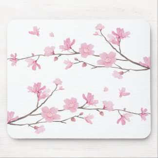 Cherry Blossom - Transparent-Background Mouse Pad