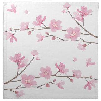 Cherry Blossom - Transparent-Background Napkin