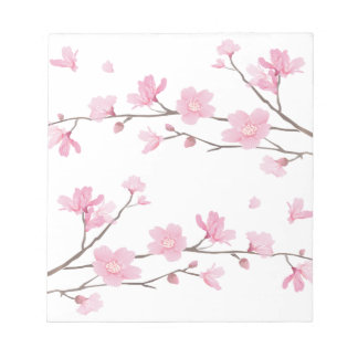 Cherry Blossom - Transparent-Background Notepad