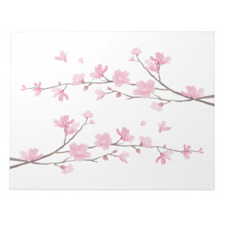 Cherry Blossom - Transparent Background Notepad