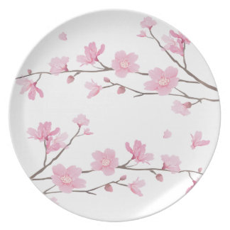 Cherry Blossom - Transparent-Background Party Plate