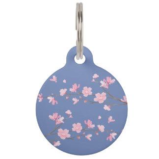Cherry Blossom - Transparent Background Pet ID Tag