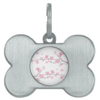 Cherry Blossom - Transparent Background Pet Name Tag