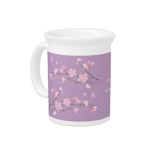Cherry Blossom - Transparent-Background Pitcher