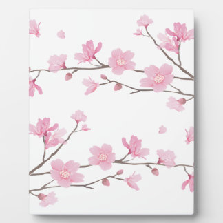 Cherry Blossom - Transparent-Background Plaque