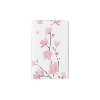 Cherry Blossom - Transparent Background Pocket Moleskine Notebook