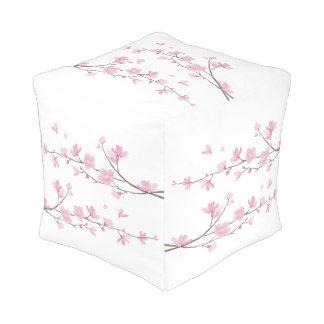 Cherry Blossom - Transparent Background Pouf