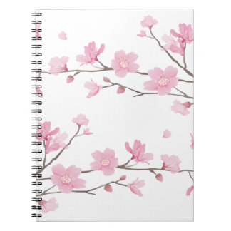 Cherry Blossom - Transparent-Background Spiral Notebook