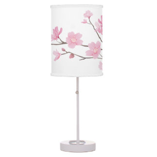 Cherry Blossom - Transparent Background Table Lamps