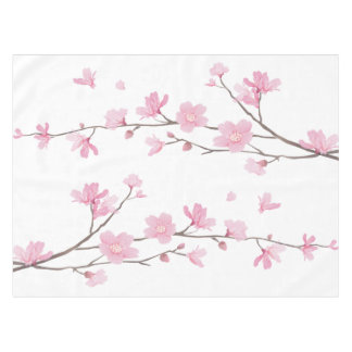 Cherry Blossom - Transparent Background Tablecloth