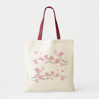 Cherry Blossom - Transparent-Background Tote Bag