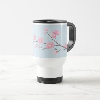 Cherry Blossom - Transparent-Background Travel Mug