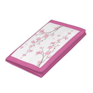 Cherry Blossom - Transparent Background Tri-fold Wallet