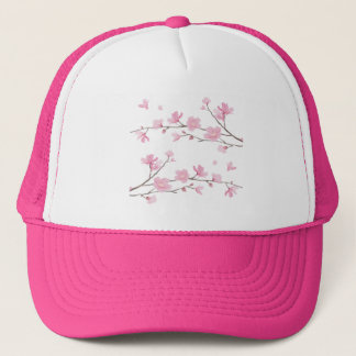 Cherry Blossom - Transparent-Background Trucker Hat