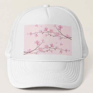 Cherry Blossom - Transparent-Background Trucker Hat