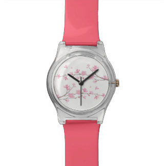 Cherry Blossom - Transparent Background Wrist Watch