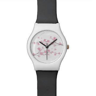 Cherry Blossom - Transparent Background Wrist Watch