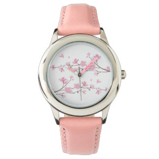 Cherry Blossom - Transparent Background Wrist Watches