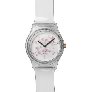 Cherry Blossom - Transparent Background Wristwatches
