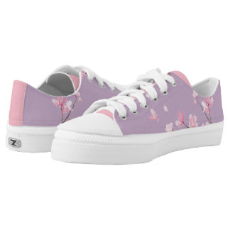 Cherry Blossom - Transparent Low-Top Sneakers