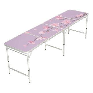 Cherry Blossom - Transparent Pong Table