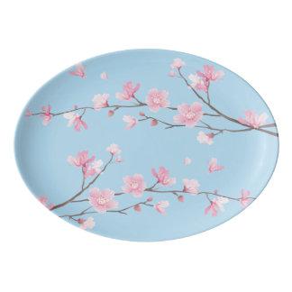 Cherry Blossom - Transparent Porcelain Serving Platter
