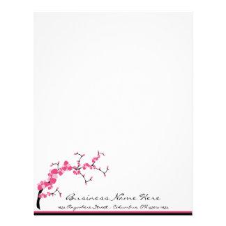 Cherry Blossom Tree Branch Letterhead Design 1