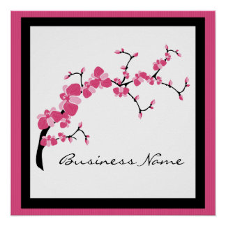 Cherry Blossom Tree Branch Poster Design 3