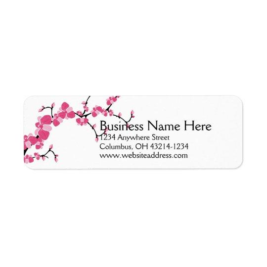 Cherry Blossom Tree Branch Return Address Labels 2