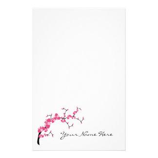 Cherry Blossom Tree Branch Stationery Design 1