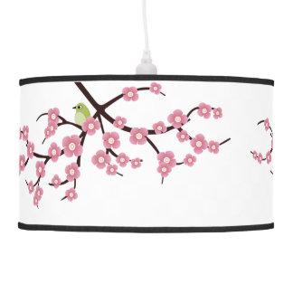 cherry blossom tree with mockingbirds pendant lamp