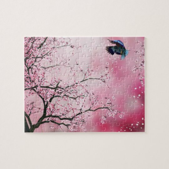 Cherry Blossom trees & Hummingbird Puzzle