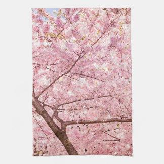 Cherry Blossom Trees Kitchen Towel