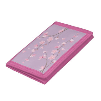 Cherry Blossom Tri-fold Wallets