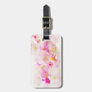 cherry blossom vintage romance abstract - white luggage tag