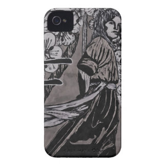 Cherry Blossom Warrior by Carter L Shepard iPhone 4 Covers